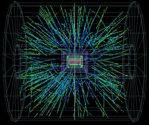 Advocacy in Academe, nuclear particle collisions, an image for productive thought collisions