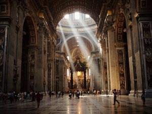 St. Peter's Basilica, Vatican City, symbol of faith, power to indoctrinate or....